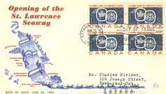 Opening of the St. Lawrence Seaway postage stamp