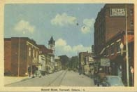 Second Street, Cornwall, Ontario postcard