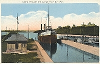 Going through the canal, Cornwall, Ontario