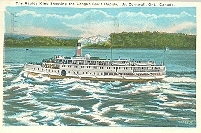 Rapids King shooting the Longue Sault Rapids, at Cornwall, Ontario postcard