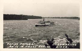 Rapids Prince, Longue Sault Rapids, St. Lawrence River postcard