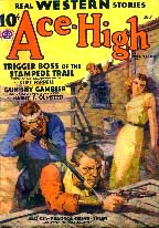 Ace-High magazine cover, 1938.