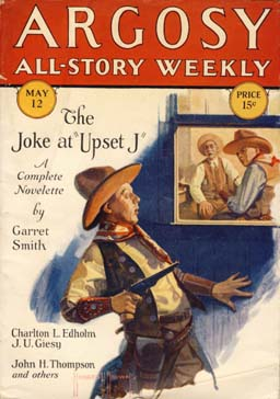 Argosy All-Story Weekly magazine cover, 1928.