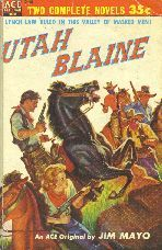 Utah Blaine by Jim Mayo. Book cover, 1954.