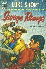 Savage Range by Luke Short. Book cover, 1952.
