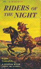 Riders of the Night by Eugene Cunningham. Book cover, 1947.