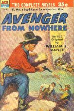Avenger from Nowhere by William E. Vance. Book cover, 1953.