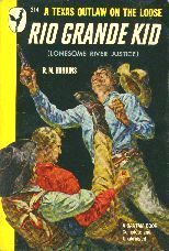 Rio Grande Kid by R.M. Hankins. Book cover, 1949.
