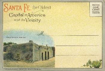 Santa Fe, the Oldest Capital in America and its Vicinity, postcard 1927?