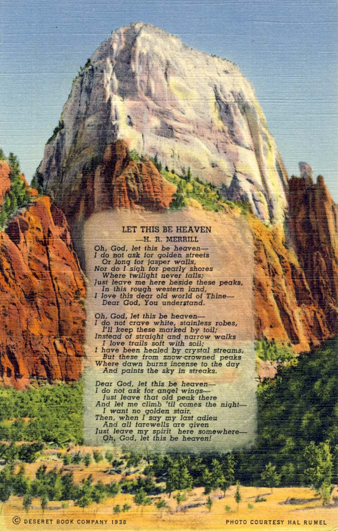 Let this be heaven postcard 1937