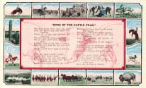 Song of the cattle trail, postcard 1920s