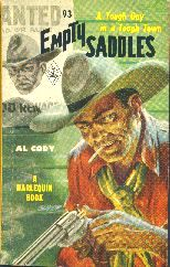 Empty Saddles.  Book cover, 1950.