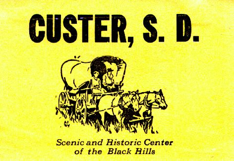 Custer, S.D.: Scenic and Historic Center of the Black Hills,  stamp 1940s