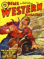 Dime Western Magazine cover, 1947
