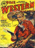 Dime Western Magazine cover, 1945.