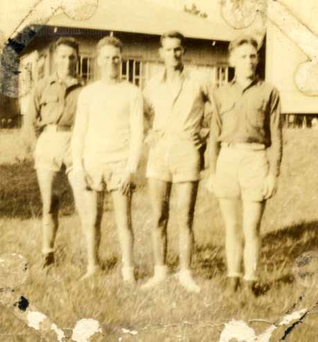 Four unidentified men in shorts photograph 1933