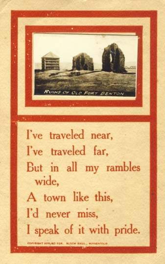 I've traveled near, postcard, 1912.