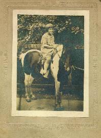 Young girl on pony, W.J. Nolan, Chicago, IL
