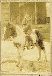 Young boy on pony, United States, 1900s