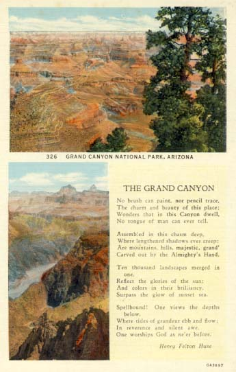The Grand Canyon, postcard, 1930.