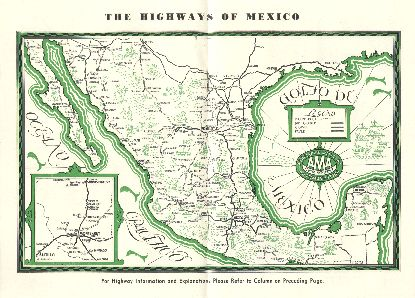 The highways of Mexico.  From The Monterrey Greeter, Feb. 1940.