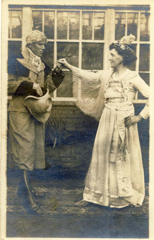 Canadian Military Base performance with cross-dressing postcard