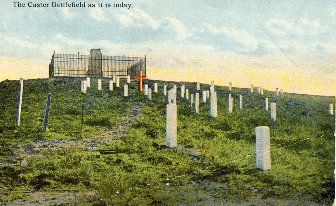 The Custer Battlefield as it is today, postcard 1923