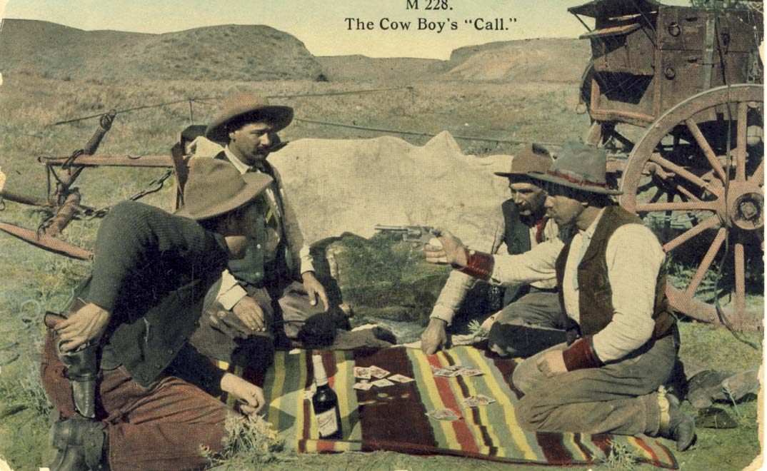 The Cow boy's call, postcard