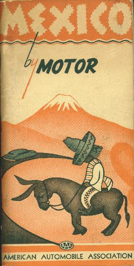 Mexico by motor. Book cover, 1949.