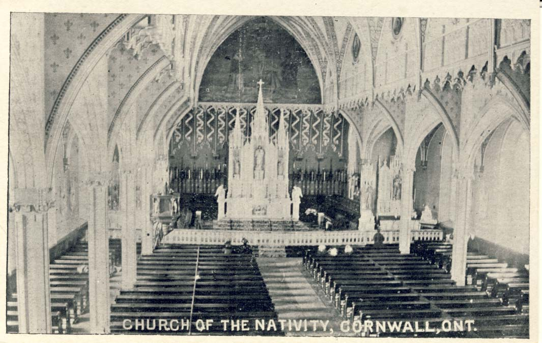 Church of the Nativity, Cornwall, Ont. postcard