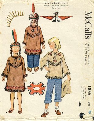 McCall's girls' frontier pattern, 1956