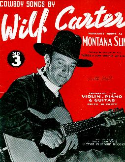 Cowboy songs by Wilf Carter, 1938