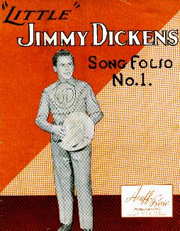 Jimmy Dickens song folio, 1949