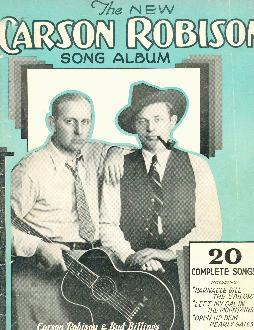 New Carson Robison song album, 1932