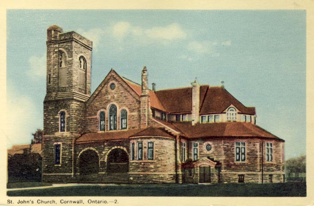 St. John's Church, Cornwall, Ontario postcard