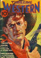 Thrilling Western magazine cover, 1937.