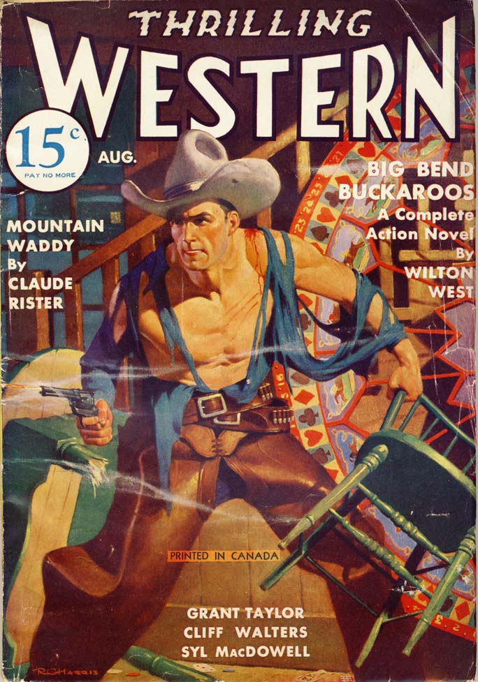 Thrilling Western magazine cover, 1935.