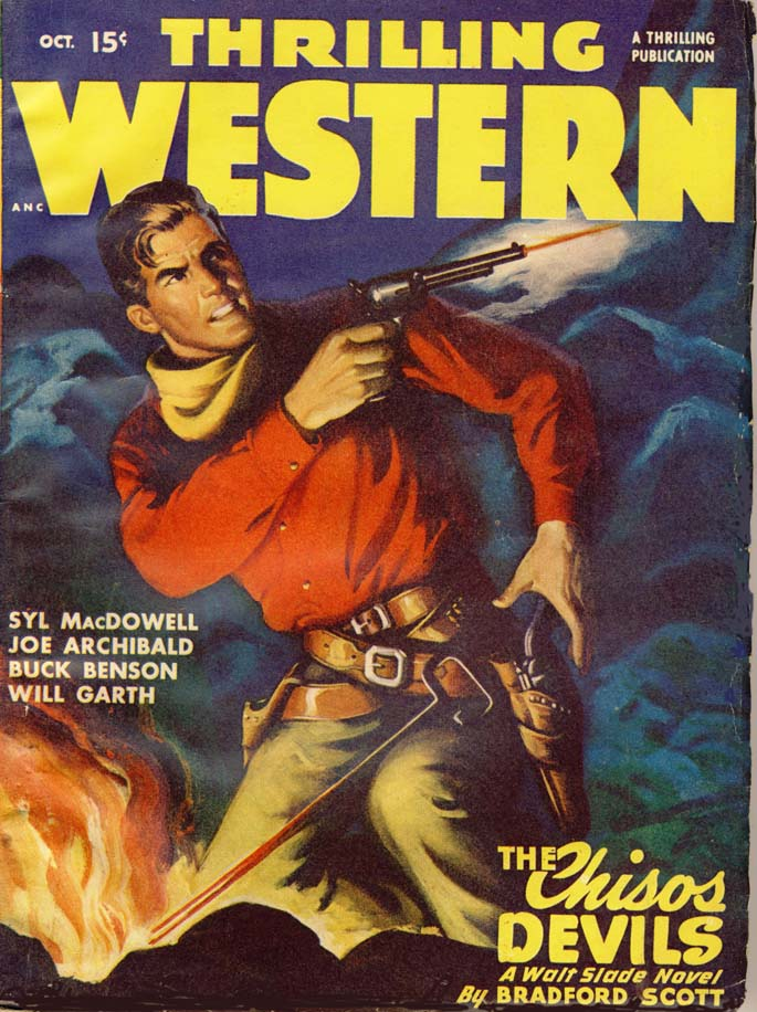 Thrilling Western magazine cover, 1947.