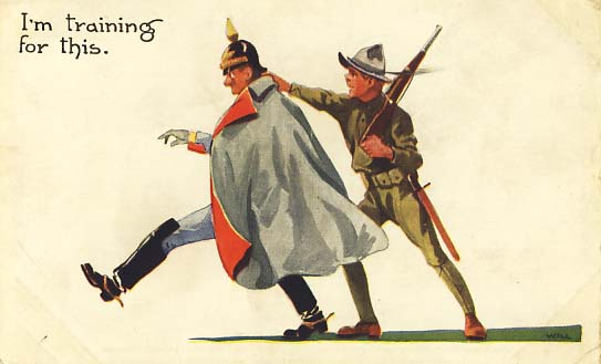 I'm training for this postcard 1918