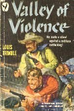 Valley of Violence.  Book cover, 1950.