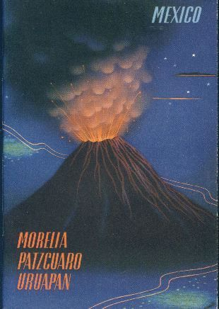 Morelia - Patzcuaro and Uruapan.  Book cover, 1943.