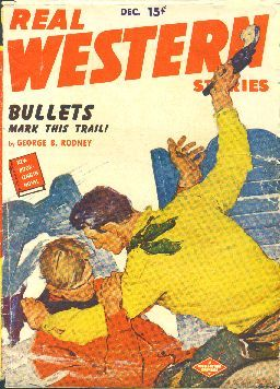 Real Western Stories.  Magazine cover, 1949.