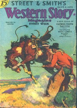 Street and Smith's Western Story Magazine.  Magazine cover, 1933.